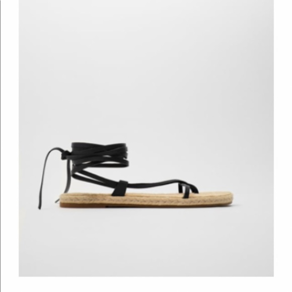 New with tag Zara women's leather sandals